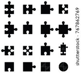 puzzle icon set | Shutterstock .eps vector #767862769