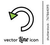 undo vector icon | Shutterstock .eps vector #767864095