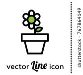flower pot vector icon | Shutterstock .eps vector #767864149