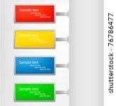 set of metallic tags. vector... | Shutterstock .eps vector #76786477