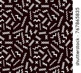 memphis style seamless pattern... | Shutterstock .eps vector #767865835