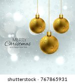 modern christmas with shiny... | Shutterstock .eps vector #767865931