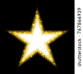 golden shiny five pointed star... | Shutterstock .eps vector #767866939