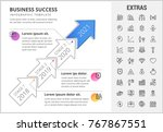 business success timeline... | Shutterstock .eps vector #767867551