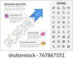 business success timeline... | Shutterstock .eps vector #767867551