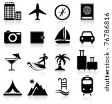 vacation and travel icons | Shutterstock .eps vector #76786816