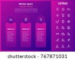 winter sport options... | Shutterstock .eps vector #767871031