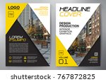 business brochure. flyer design.... | Shutterstock .eps vector #767872825