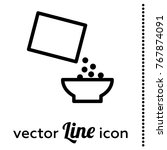 cereal vector icon | Shutterstock .eps vector #767874091