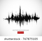 abstract black grunge... | Shutterstock .eps vector #767875105