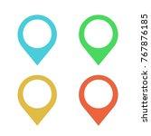 location logo vector design icon | Shutterstock .eps vector #767876185
