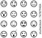 emotion icon set | Shutterstock .eps vector #767879404