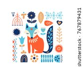 nordic ornaments  folk art... | Shutterstock .eps vector #767879431