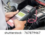 mechanic use voltmeter checking ... | Shutterstock . vector #767879467
