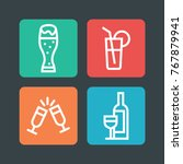 alcohole icon set. vector line... | Shutterstock .eps vector #767879941