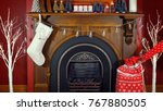cosy christmas holiday... | Shutterstock . vector #767880505
