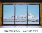 looking through window in... | Shutterstock . vector #767881594
