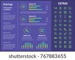 startup infographic template ... | Shutterstock .eps vector #767883655