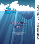 illustration of a sea fishing... | Shutterstock .eps vector #767884651