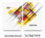 square business a4 brochure... | Shutterstock .eps vector #767887999