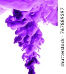 purple ink in water isolated... | Shutterstock . vector #767889397