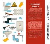 plumbing service advertisement... | Shutterstock .eps vector #767889994