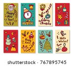 new year christmas greeting...   Shutterstock .eps vector #767895745