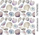 Seamless Marine Pattern With...