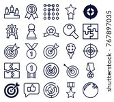 set of 25 challenge outline... | Shutterstock .eps vector #767897035