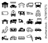 set of 25 auto filled and... | Shutterstock .eps vector #767897071