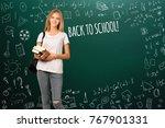 back to school  happy teen...   Shutterstock . vector #767901331