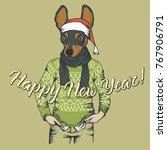 dog toy terrier  vector... | Shutterstock .eps vector #767906791