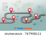 business road signs map... | Shutterstock .eps vector #767908111