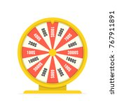 fortune wheel in flat style.... | Shutterstock .eps vector #767911891