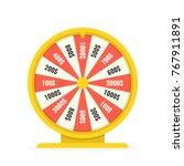 fortune wheel in flat style.... | Shutterstock .eps vector #767911891