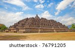 borobudur temple near...   Shutterstock . vector #76791205