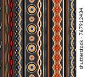 ethnic seamless pattern.... | Shutterstock .eps vector #767912434