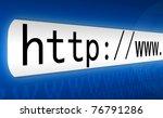 3d concept of an internet...   Shutterstock . vector #76791286