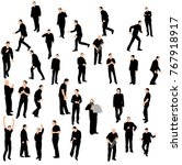 silhouette people group stand | Shutterstock . vector #767918917