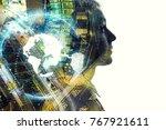 ai  artificial intelligence ... | Shutterstock . vector #767921611