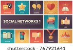 social networks   modern set of ... | Shutterstock .eps vector #767921641