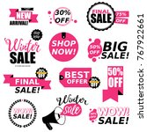 sale stickers collection. sale... | Shutterstock .eps vector #767922661