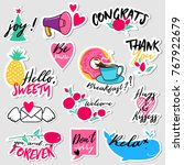 collection of flat design... | Shutterstock .eps vector #767922679