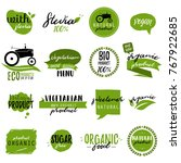 stickers and badges for organic ... | Shutterstock .eps vector #767922685