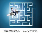 uncertainty concept with... | Shutterstock . vector #767924191