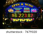slot machine in casino | Shutterstock . vector #7679320