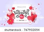 valentines day sale background... | Shutterstock .eps vector #767932054