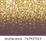gold glitter particles and... | Shutterstock .eps vector #767937019