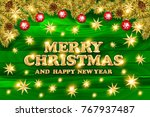 vector christmas messages and... | Shutterstock .eps vector #767937487