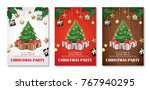 invitation merry christmas... | Shutterstock .eps vector #767940295